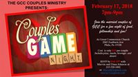 GCC Couples Ministry Presents Couples Game Night