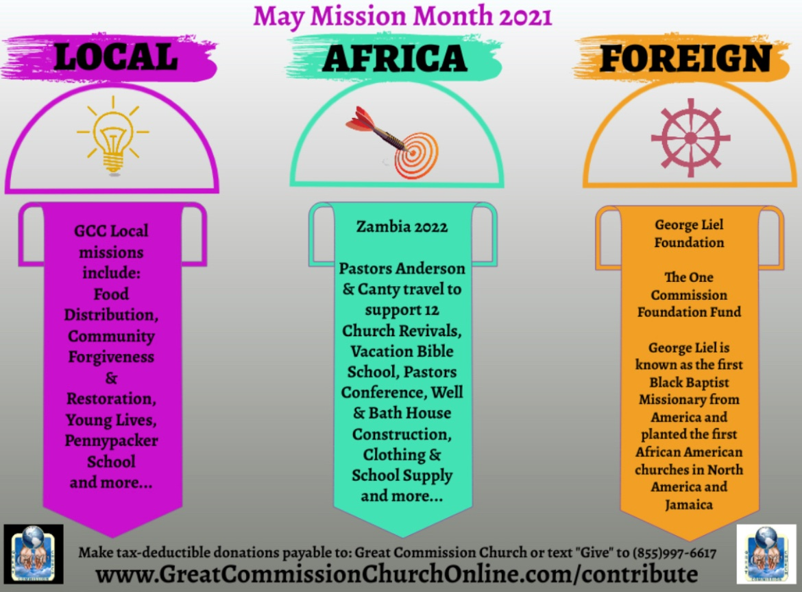 Great Commission Church Mission Month